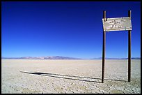 Sign in the middle of nowhere, Black Rock Desert. Nevada, USA ( color)
