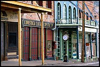 Old storefronts. Virginia City, Nevada, USA (color)