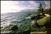 Rocky shore, Lake Tahoe, Nevada. USA ( color)