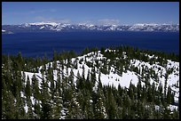 Lake in winter seen from the western mountains, Lake Tahoe, California. USA ( color)