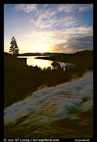 Eagle Falls,  Emerald Bay, sunrise, South Lake Tahoe, California. USA (color)