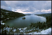 Emerald Bay in winter, Lake Tahoe, California. USA (color)