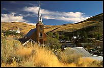 Church and town, Austin. Nevada, USA