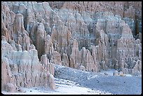 Pilars carved by erosion, Cathedral Gorge State Park. Nevada, USA (color)