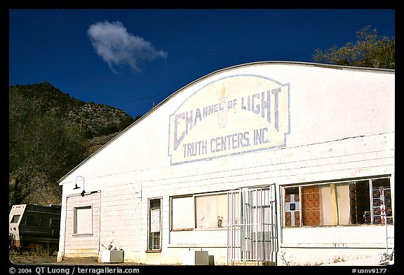 Truth centers, Pioche. Nevada, USA (color)