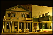 Opera house by night, Pioche. Nevada, USA (color)