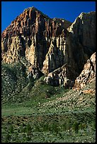 Tall cliffs. Red Rock Canyon, Nevada, USA (color)