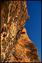 Rock climbers. Red Rock Canyon, Nevada, USA