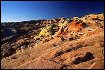Colorful sandstone formations, early morning, Valley of Fire State Park. Nevada, USA (color)