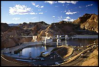 Reservoir and dam. Hoover Dam, Nevada and Arizona ( color)