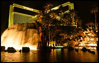Mirage casino by night. Las Vegas, Nevada, USA (color)