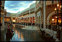 Interior of the Venetian casino. Las Vegas, Nevada, USA
