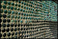 Detail of wall of the bottle house, Rhyolite. Nevada, USA ( color)