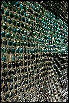Bottles making up a wall, Rhyolite. Nevada, USA (color)