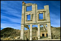 Ruins, Rhyolite ghost town. Nevada, USA