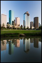 Skyscrapers and reflections. Houston, Texas, USA ( color)