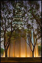 Gerald D. Hines Waterwall and Williams Tower at night. Houston, Texas, USA ( color)