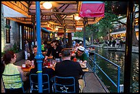 Enjoying drinks on Riverwalk. San Antonio, Texas, USA ( color)