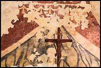 Fading fresco and crucifix. San Antonio, Texas, USA ( color)