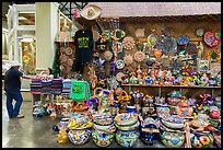 Mexican ceramics for sale, Market Square. San Antonio, Texas, USA ( color)