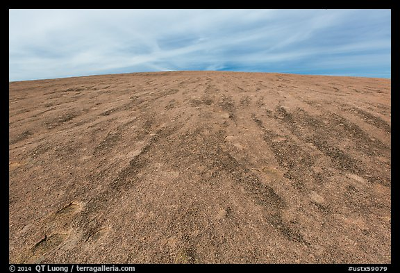 Gently rounded granite dome, Enchanted Rock. Texas, USA (color)