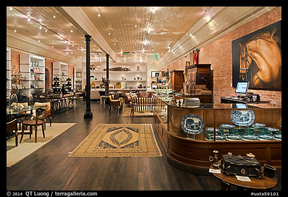 Store interior. Fredericksburg, Texas, USA (color)