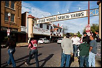 Fort Worth Stokyards gate. Fort Worth, Texas, USA ( color)