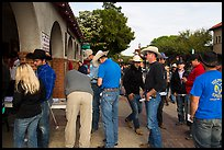 Rodeo contestants line up, Stockyards. Fort Worth, Texas, USA ( color)