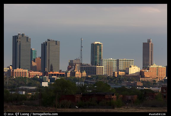 Skyline. Fort Worth, Texas, USA (color)