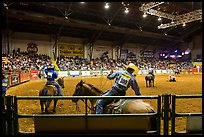 Indoor Rodeo, Cowtown coliseum. Fort Worth, Texas, USA ( color)