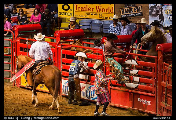 Gates, Stokyards Rodeo. Fort Worth, Texas, USA (color)