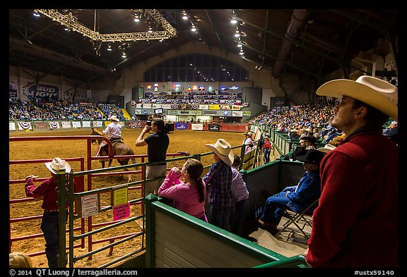 Cowtown coliseum Stokyards Rodeo. Fort Worth, Texas, USA (color)