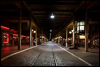 Station at night, Stockyards. Fort Worth, Texas, USA ( color)