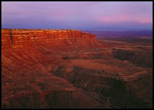 Cliffs near Muley Point, dusk. Utah, USA (color)