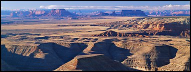 Canyon country scenery. Utah, USA (Panoramic color)