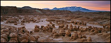 Goblin Valley landscape. Utah, USA (Panoramic color)