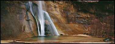 Desert waterfall. Utah, USA (Panoramic color)