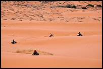 Four-wheelers on dunes, Coral pink sand dunes State Park. Utah, USA ( color)