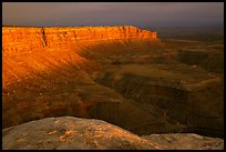 Cliffs near Muley Point, sunset. Utah, USA (color)