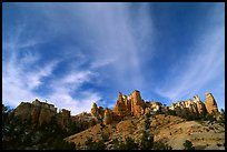 Hoodoos and clouds, Red Canyon, Dixie National Forest. Utah, USA