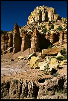 Tall multicolored cliffs, Burr Trail, Grand Staircase Escalante National Monument. Utah, USA ( color)