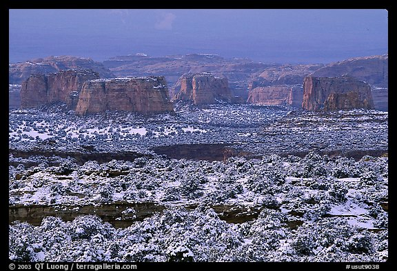 Cliffs in recent snow, San Rafael Swell. Utah, USA (color)