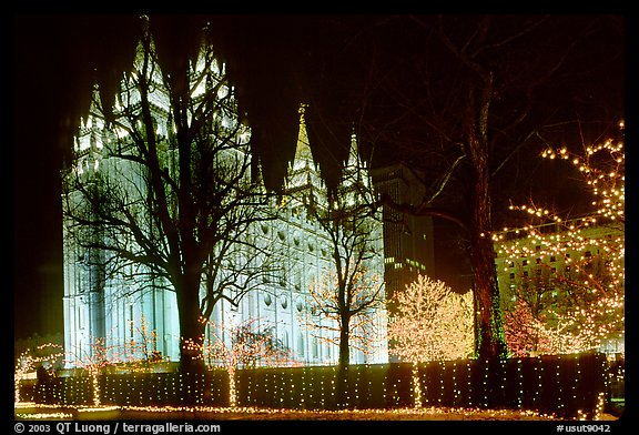 Great temple of the Church of Jesus Christ of Latter-day Saints, Salt Lake City. Utah, USA