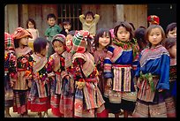 School kids in colorfull everyday dress