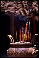 Incense stick and coils. Cholon, District 5, Ho Chi Minh City, Vietnam (color)