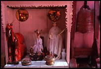 Altar dedicated to historic genies. Cholon, District 5, Ho Chi Minh City, Vietnam (color)