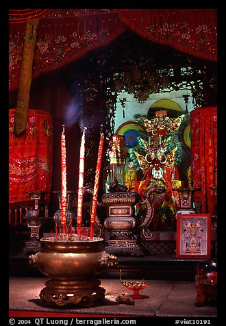Altar. Ho Chi Minh City, Vietnam (color)