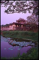Imperial library at dusk, citadel. Hue, Vietnam (color)