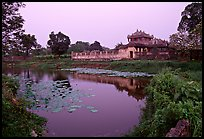 Imperial library and pond, citadel. Hue, Vietnam (color)
