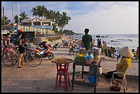 Food vendor,  Long Beach, Duong Dong. Phu Quoc Island, Vietnam ( color)